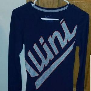 Nike Women's Navy Fighting Illini Slim Fit Shirt
